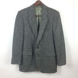 Harris Tweed Blazer Grey 100% Pure Scottish Wool